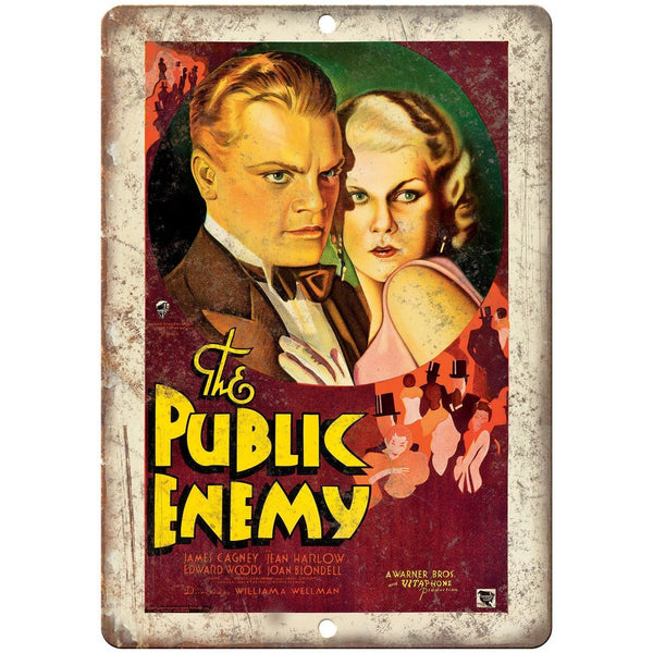 "The Public Enemy James Cagney Movie Poster 10"" x 7"" Reproduction Metal Sign"
