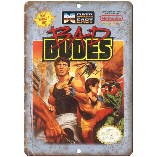 "Data East Bad Dudes Nintendo Video Game 10"" x 7"" Reproduction Metal Sign A03"