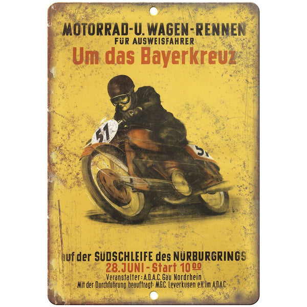 "Motorrad U. Wagen Vintage Motorcycle Ad 10"" x 7"" Reproduction Metal Sign F57"