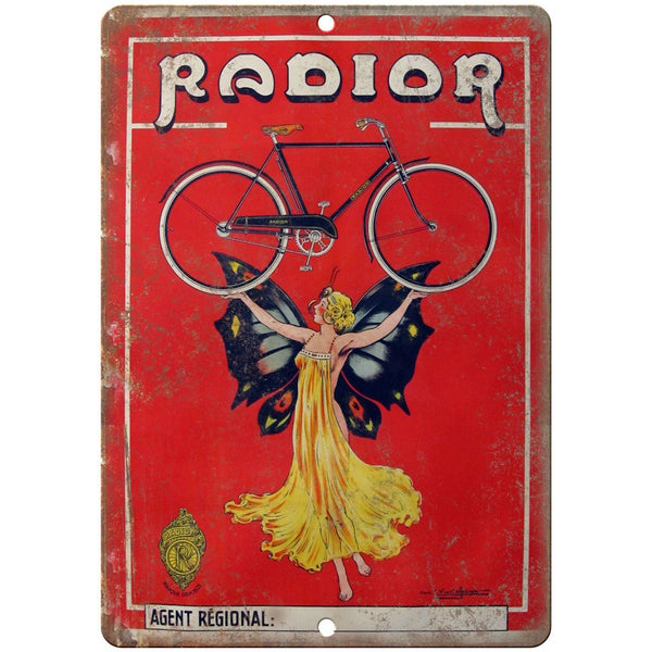 "Radior Vintage Bicycle Ad 10"" x 7"" Reproduction Metal Sign B226"