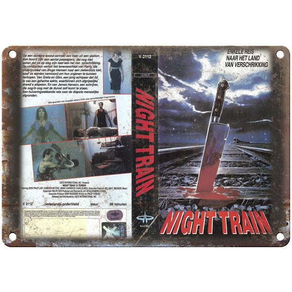 "Night Tain VHS Box Art Home Video 10"" X 7"" Reproduction Metal Sign V31"