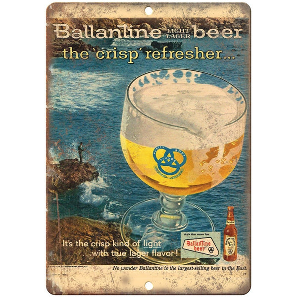 "Ballantine Light Lager Beer Ad 10"" x 7"" Reproduction Metal Sign E287"