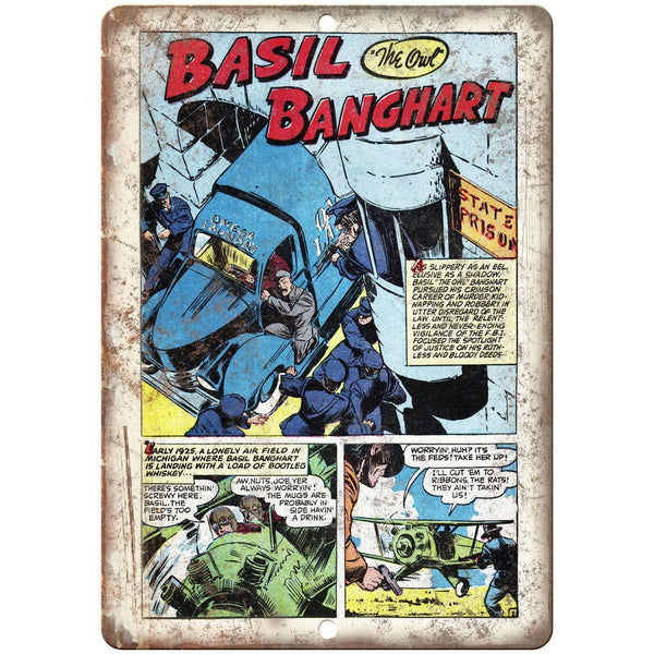 "Ace Comic Strip Basil the Owl Banghart 10"" X 7"" Reproduction Metal Sign J368"
