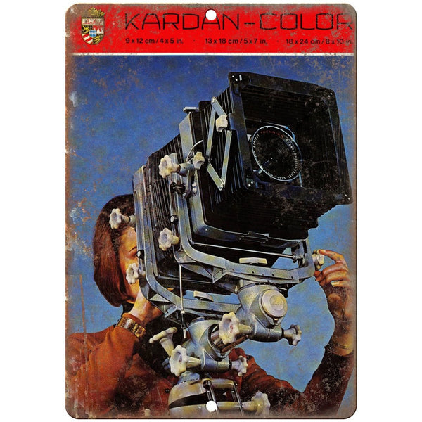"Kardan Color Film Camera 10"" x 7"" Retro Look Metal Sign"