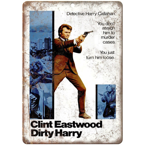 "Clint Eastwood Dirty Harry Harry Callahan 10"" x 7"" Reproduction Metal Sign I02"