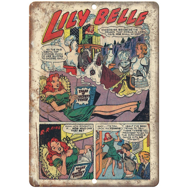 "Lily Belle Comic Strip Vintage Ad 10"" x 7"" Reproduction Metal Sign J510"