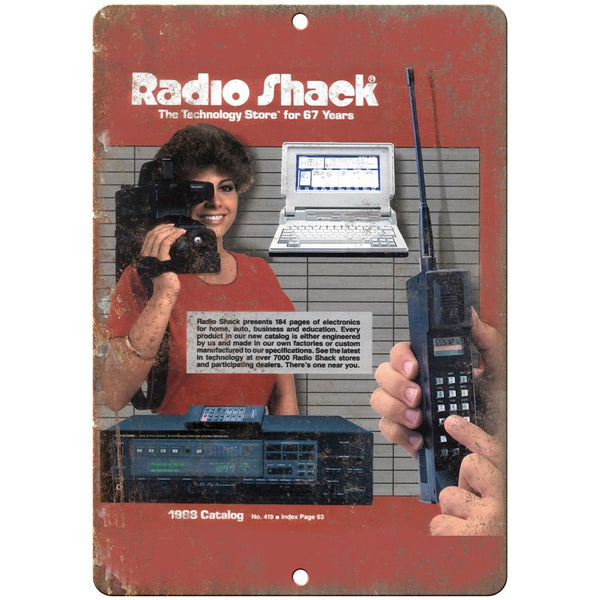 "Radio Shack 1988 Electronics Catalog Cover 10"" x 7"" Reproduction Metal Sign D39"