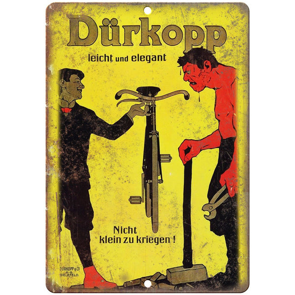 "Durkopp Bicycle Vintage Ad 10"" x 7"" Reproduction Metal Sign B348"