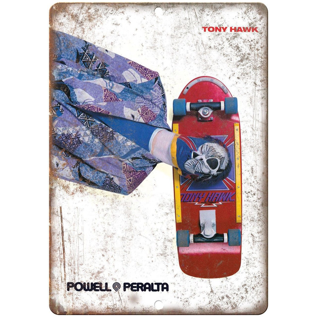 "Powell Peralta Tony Hawk Vintage Ad 10"" x 7"" Reproduction Metal Sign"