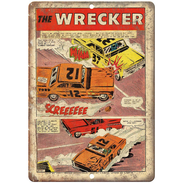 "The Wrecker Comic Strip Vintage Art 10"" x 7"" Reproduction Metal Sign J657"