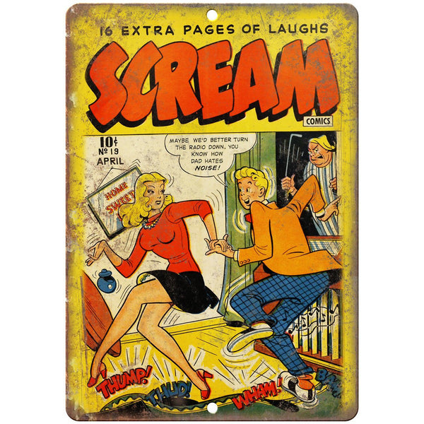 "Scream Comic No 19 Book Cover Vintage Ad 10"" x 7"" Reproduction Metal Sign J504"