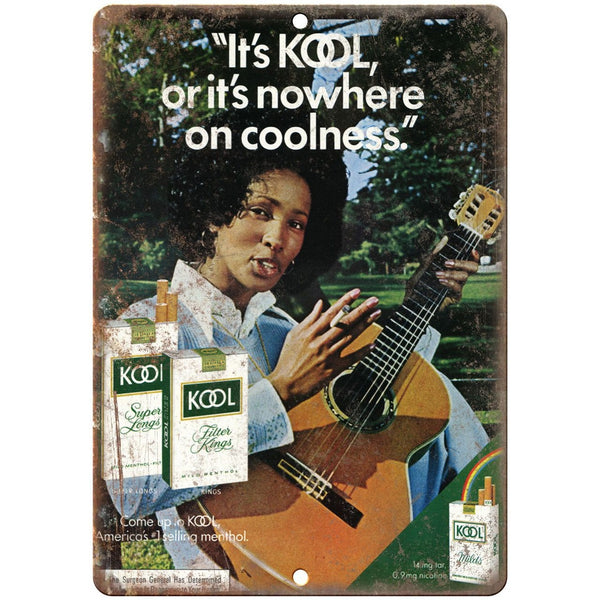 "1970s Newport Kool or Nowhere vintage ad 10"" x 7"" reproduction metal sign"