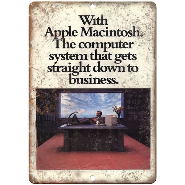 "Apple Computers Macintosh Vintage Ad 10"" x 7"" Reproduction Metal Sign D08"