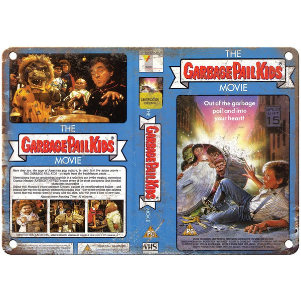 "1987 Garbage Pail Kids The Movie VHS Cover 10"" x 7"" Reproduction Metal Sign"