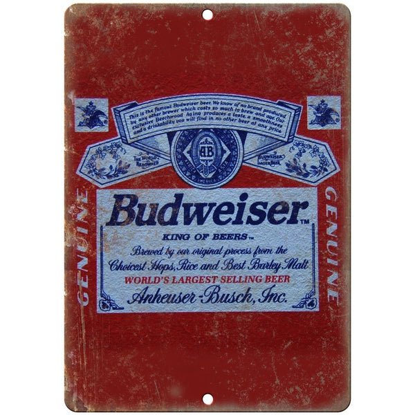 "Budweiser Anheuser busch Vinate Beer Ad 10"" x 7"" Reproduction Metal Sign E275"
