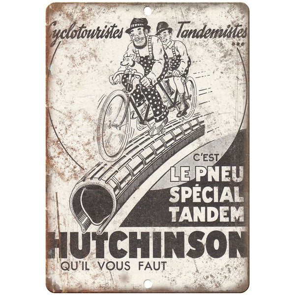 "Hutchinson Bicycle vintage RARE ad poster 10"" x 7"" reproduction metal sign"