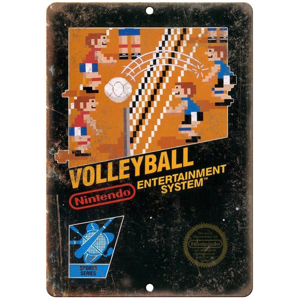 "Nintendo Volleyball Video Game Sports Series10"" x 7"" Reproduction Metal Sign A02"