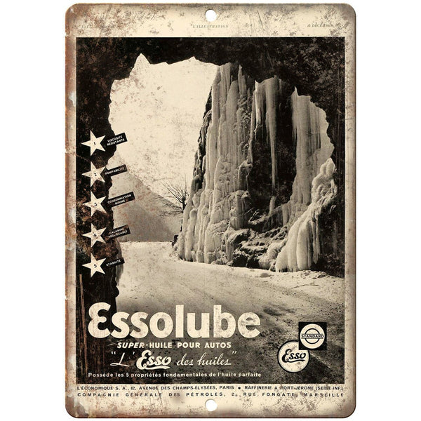 "Essolube Motor Oil Vintage Ad 10"" X 7"" Reproduction Metal Sign A752"