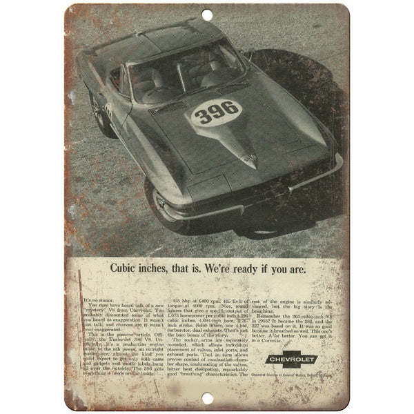 "Chevy V8 Engine Advertisment Retro Look 10"" x 7"" Reproduction Metal Sign"