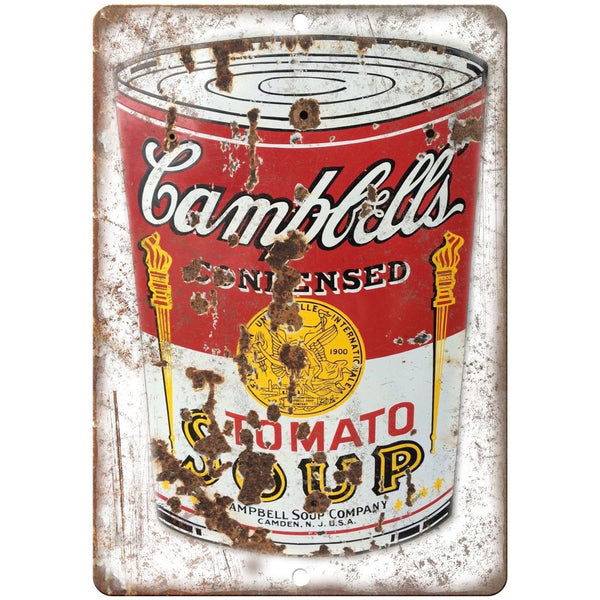 Campbells Tomato Soup Porcelain Look Reproduction Metal Sign U118