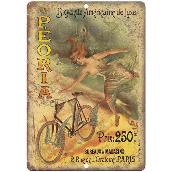 "Bicycletta Americaine De Luxe Bicycle Ad 10"" x 7"" Reproduction Metal Sign B258"