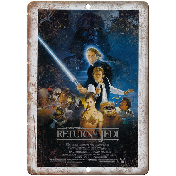 "10"" x 7"" Metal Sign - Return of The Jedi Movie Poster Vintage Look Reproduction"