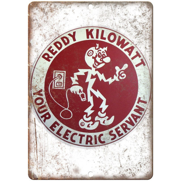 Reddy Kilowatt Electric Porcelain Look Reproduction Metal Sign U153