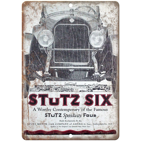"Stutz Six Motor Car Company Speedway Four 10"" X 7"" Reproduction Metal Sign A630"