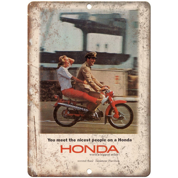 "Honda Motorcycle Navy Soldier Vintage Ad 10"" x 7"" Reproduction Metal Sign F11"