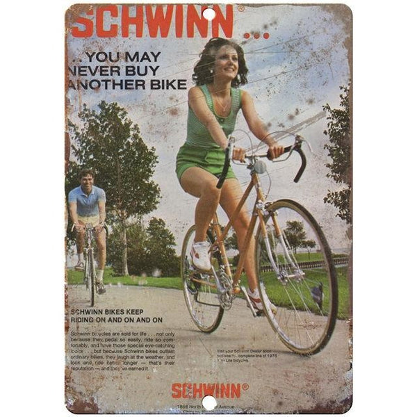 "1978 Schwinn vintage advertising 10"" x 7"" reproduction metal sign"