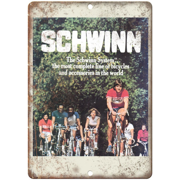 "1981 - Schwinn Bicycles Catalog Cover - 10"" x 7"" Retro Look Metal Sign"