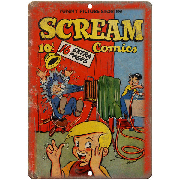 "Scream Comic Cover Book Vintage Ad 10"" x 7"" Reproduction Metal Sign J567"