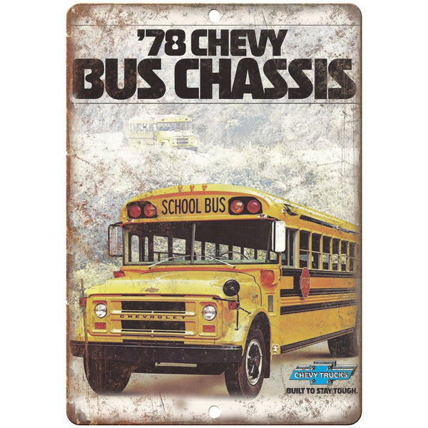 "1975 Chevy Bus Chassis Vintage Ad 10"" x 7"" Reproduction Metal Sign A176"