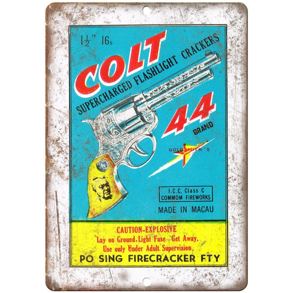"Colt Firecracker Package Art 10"" X 7"" Reproduction Metal Sign ZD106"