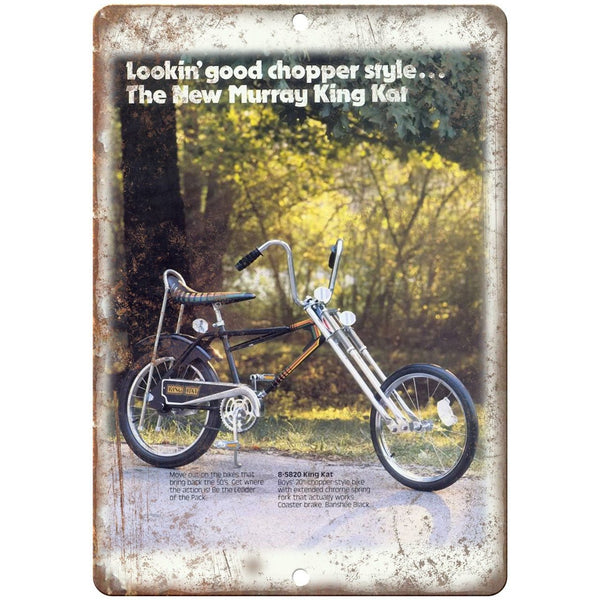 "Murray King Kat Chopper Style Vintge Ad 10"" x 7"" Reproduction Metal Sign B08"