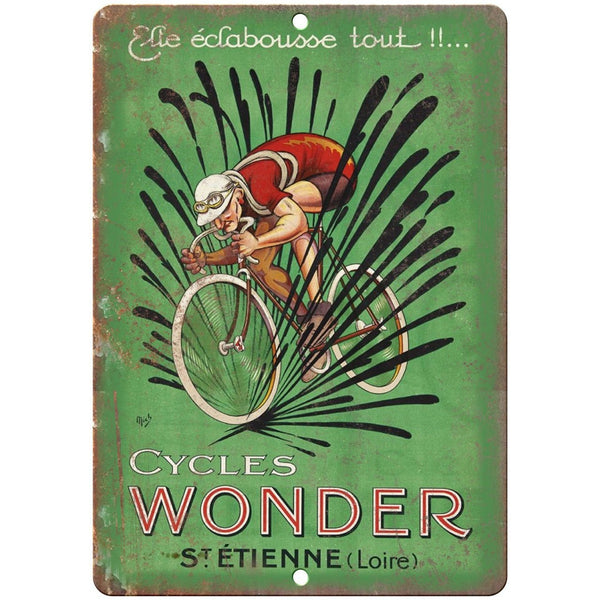 "Cycles Wonder Vintage Cycling Ad 10"" x 7"" Reproduction Metal Sign B195"