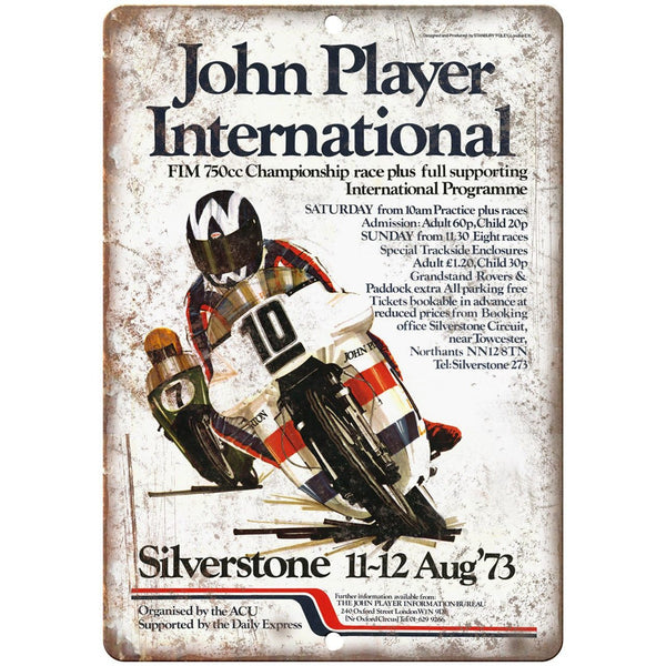 "John Player International 750CC Motorcycle 10"" x 7"" Reproduction Metal Sign F55"