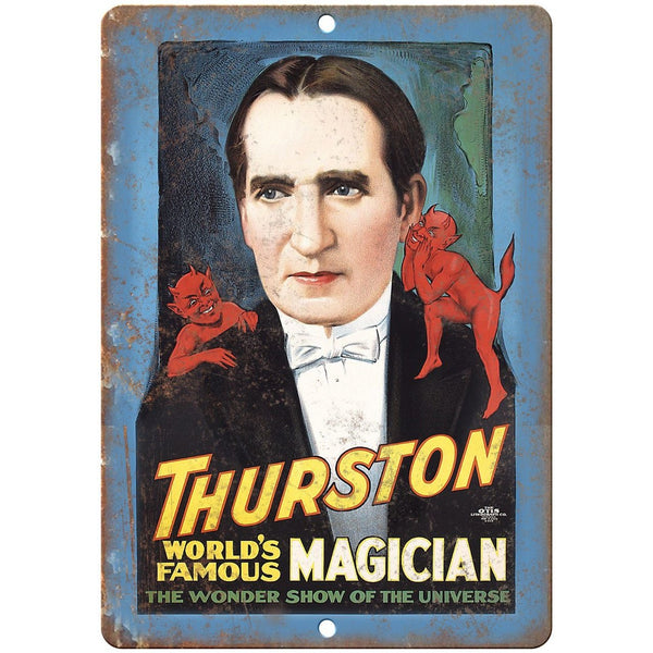"Thurston World Famous Magician Poster 10"" X 7"" Reproduction Metal Sign ZH152"