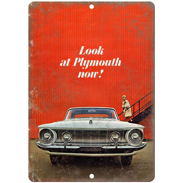 "1962 Plymouth Car Manual Ad 10"" x 7"" Reproduction Metal Sign"