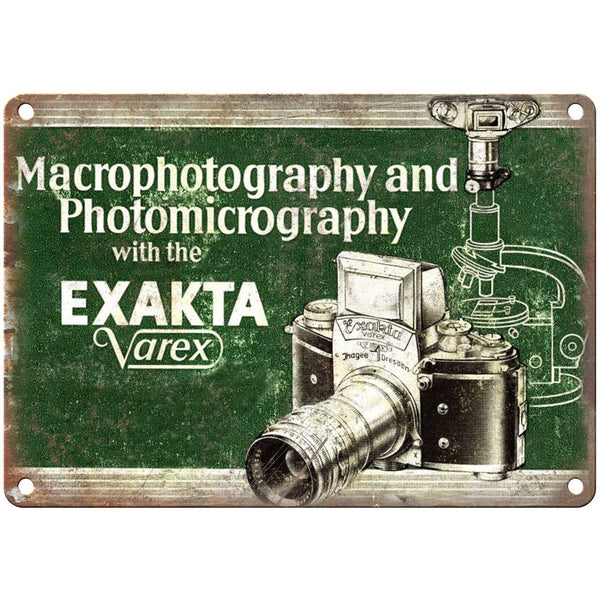 "Exakta Varex 35 mm Camera Ad 10"" x 7"" Retro Look Metal Sign"