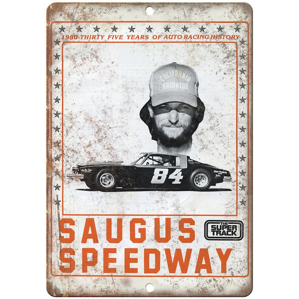 "Saugus Speedway Super Track Program Ad 10"" X 7"" Reproduction Metal Sign A544"