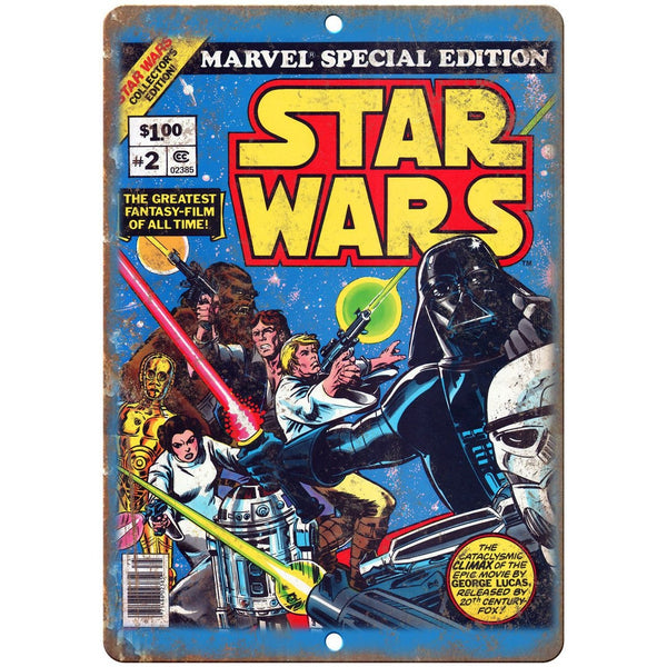 "Star Wars Marvel Comics #2 Cover 10"" x 7"" Reproduction Metal Sign J01"