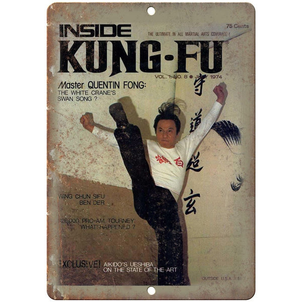 "1974 Inside Kung fu Martial Arts Aikido 10"" x 7"" Reproduction Metal Sign X63"