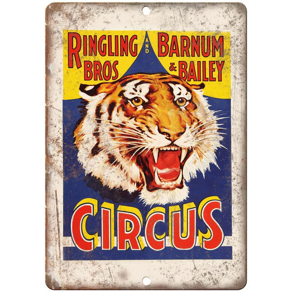 "Ringling Brothers Retro Circus Poster 10"" X 7"" Reproduction Metal Sign ZH17"