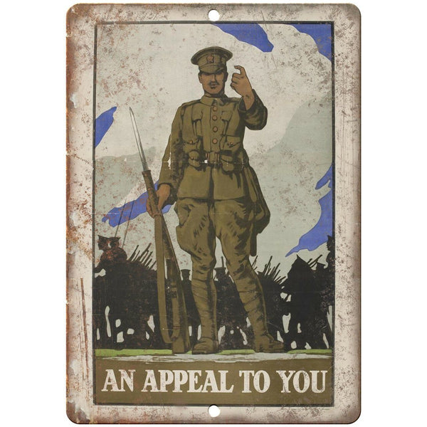 "An Appeal To You Military Poster Art 10"" x 7"" Reproduction Metal Sign M150"