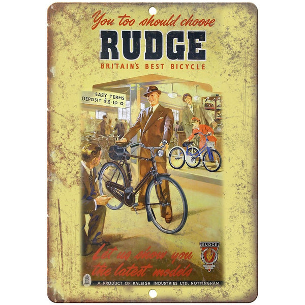 "Rudge Bicycle Raleigh Vintage Ad 10"" x 7"" Reproduction Metal Sign B222"