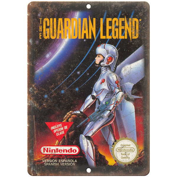 "Original Nintendo Guardian Legend Box Art 10""x7"" Reproduction Metal Sign A25"