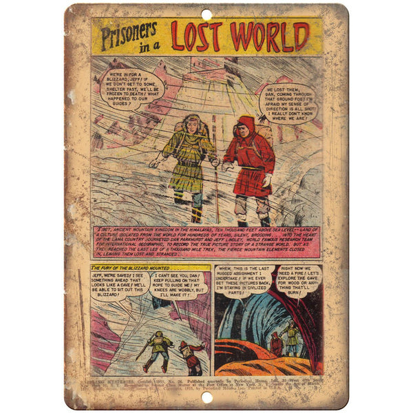 "Prisioners In A Lost World Comic Ad Art 10"" x 7"" Reproduction Metal Sign J532"