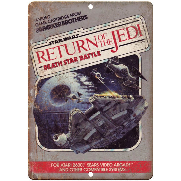 "Star Wars Return of the Jedi Atari 2600 Ad 10"" x 7"" Reproduction Metal Sign G177"