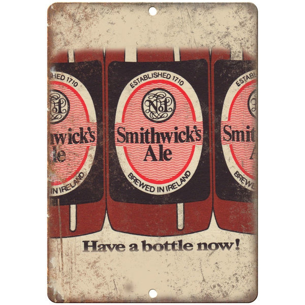 "Smithwick's Ale Ireland Vintage Beer Ad 10"" x 7"" Reproduction Metal Sign E278"